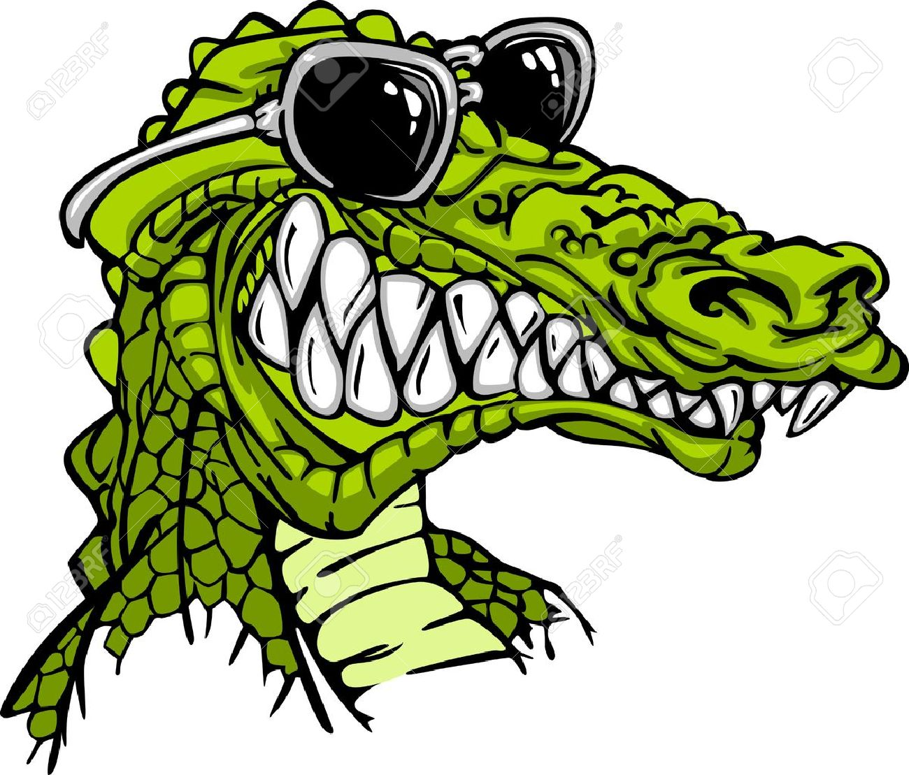 1300x1109 Cartoon Image Of A Crocodile Or Alligator Wearing Sunglasses