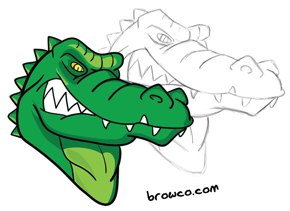 923x673 Custom Alligator Cartoon Browco