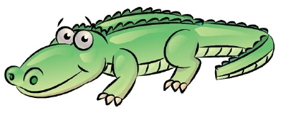 400x162 Drawn Alligator Cartoon