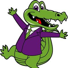 236x236 Vector Crocodile Cartoon Alligator Line Art Coloring Book Black