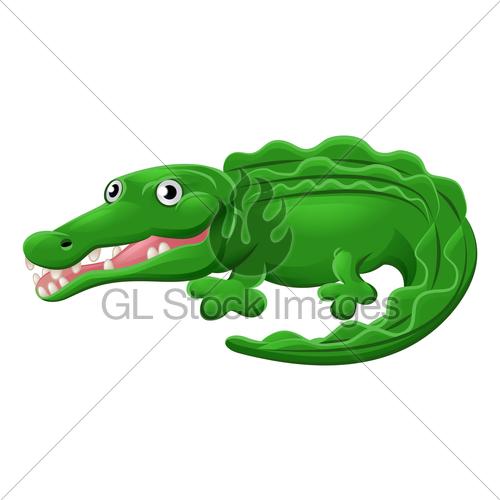500x500 Crocodile Or Alligator Animal Cartoon Character Gl Stock Images