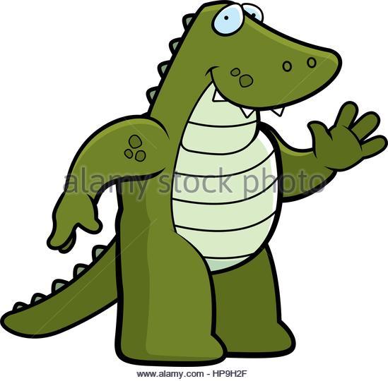 549x540 Happy Cartoon Alligator Waving Smiling Stock Photos Amp Happy