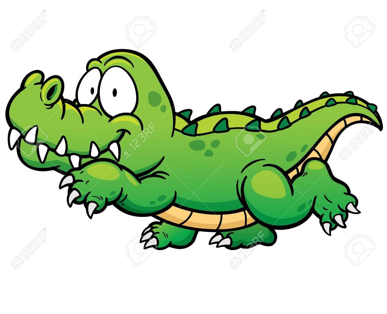 1300x1056 Vector Illustration Of Cartoon Crocodile Royalty Free Cliparts