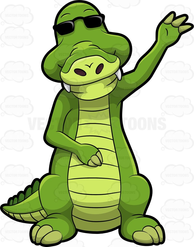 806x1024 Arthur The Alligator Waving Hello Alligators