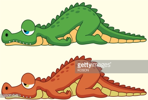 502x341 Alligator clipart sleeping
