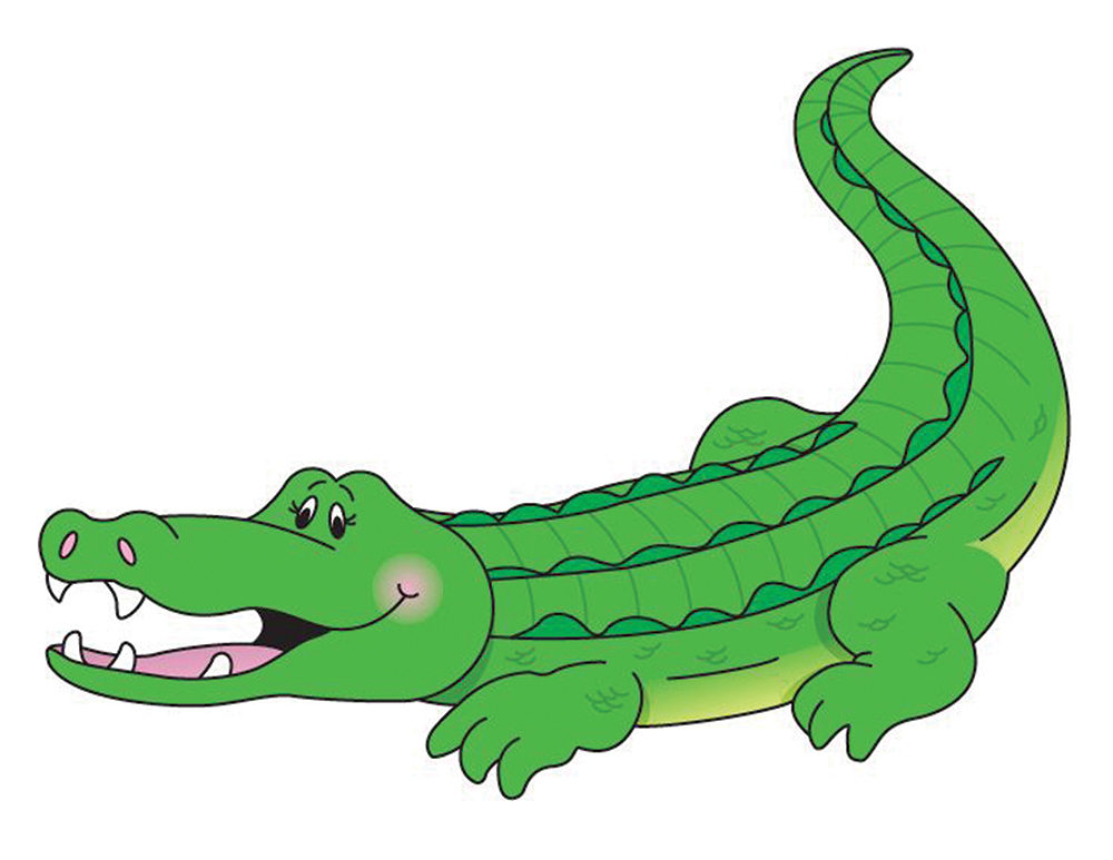 1000x773 Alligator Clipart, Mirrored Alligator, 2 Sizes, Crocodile Digital