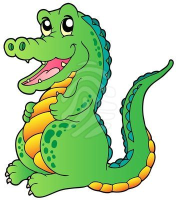 354x400 Crocodile clipart lake