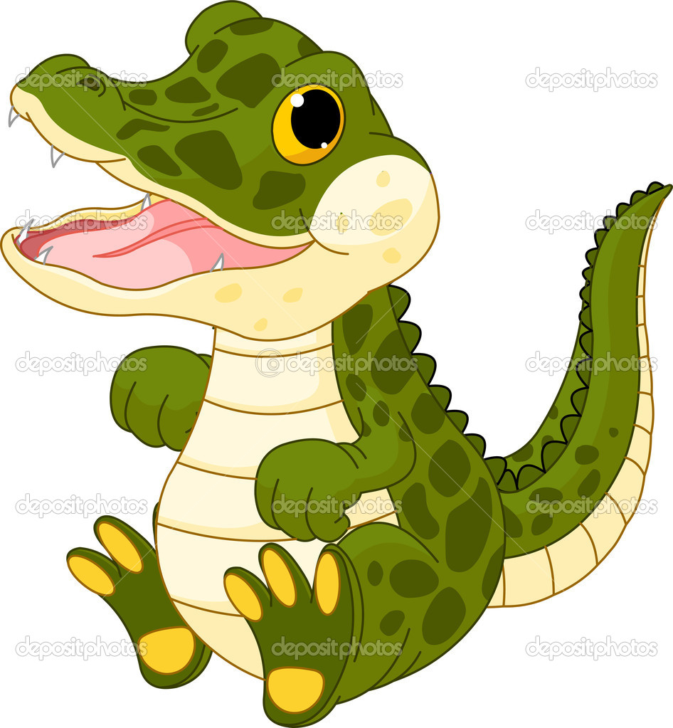 946x1023 Crocodile clipart yellow