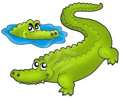 400x324 Realistic clipart crocodile