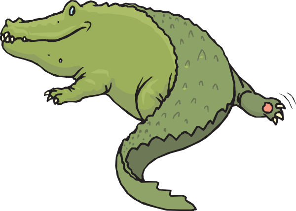 600x429 Rear View Of Alligator Clip Art