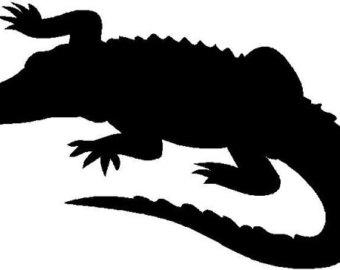 340x270 Alligator Clipart Silhouette