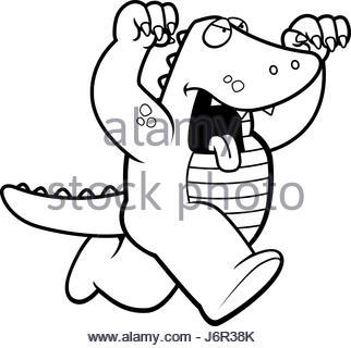 322x320 Alligator Running Vector Art Stock Vector Art Amp Illustration
