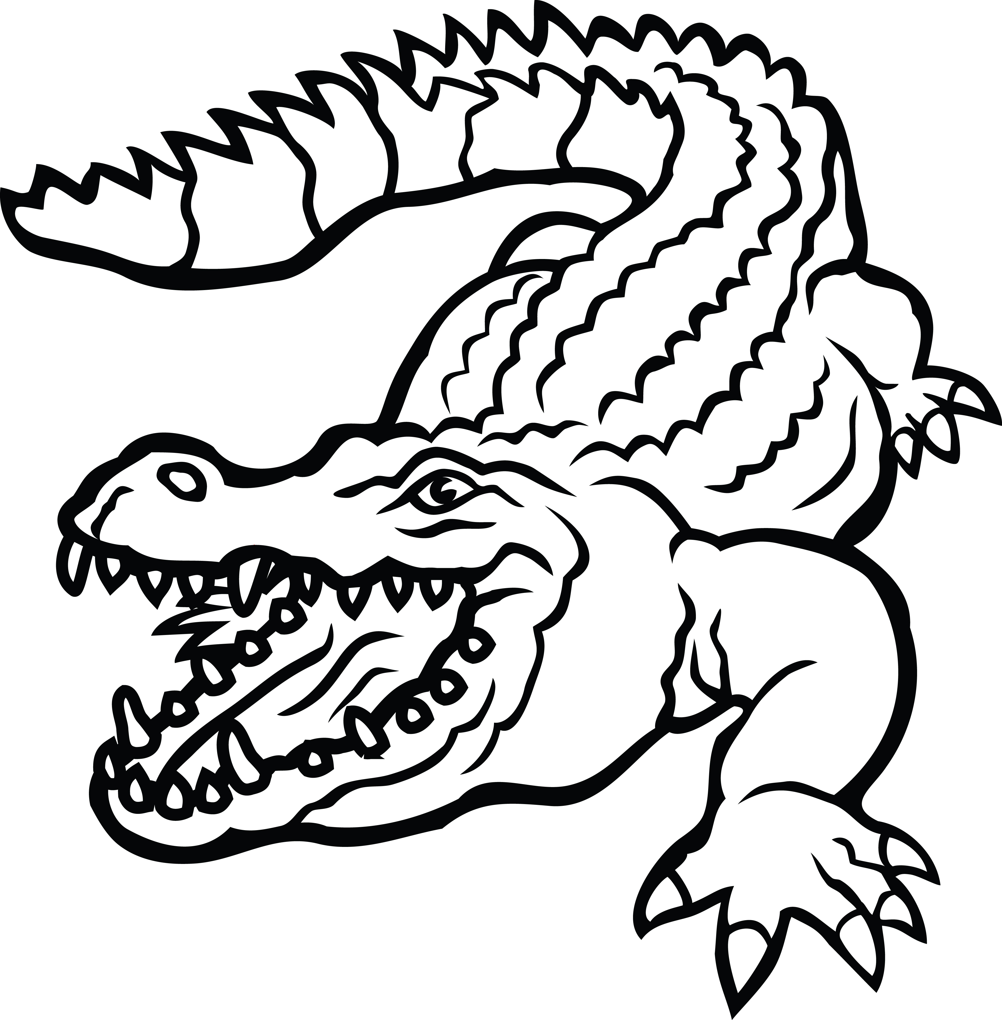 4000x4072 Clipart Of A Crocodile