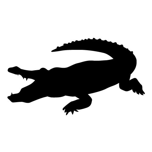 500x500 Crocodile Silhouette Clip Art