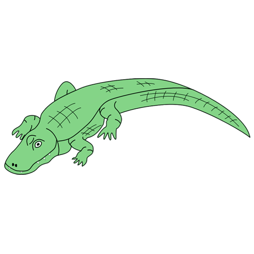500x500 Crocodile Clipart Black And White Free 2 Image