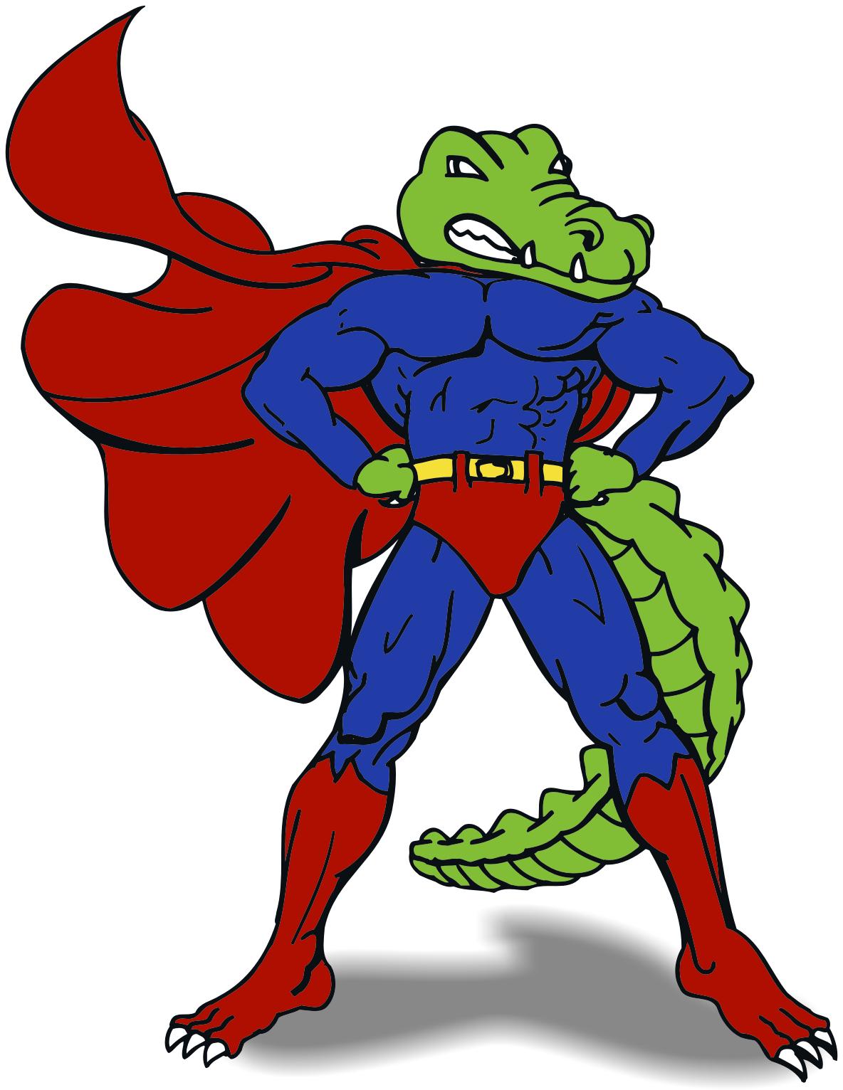 1184x1532 Alligator Clipart Superhero