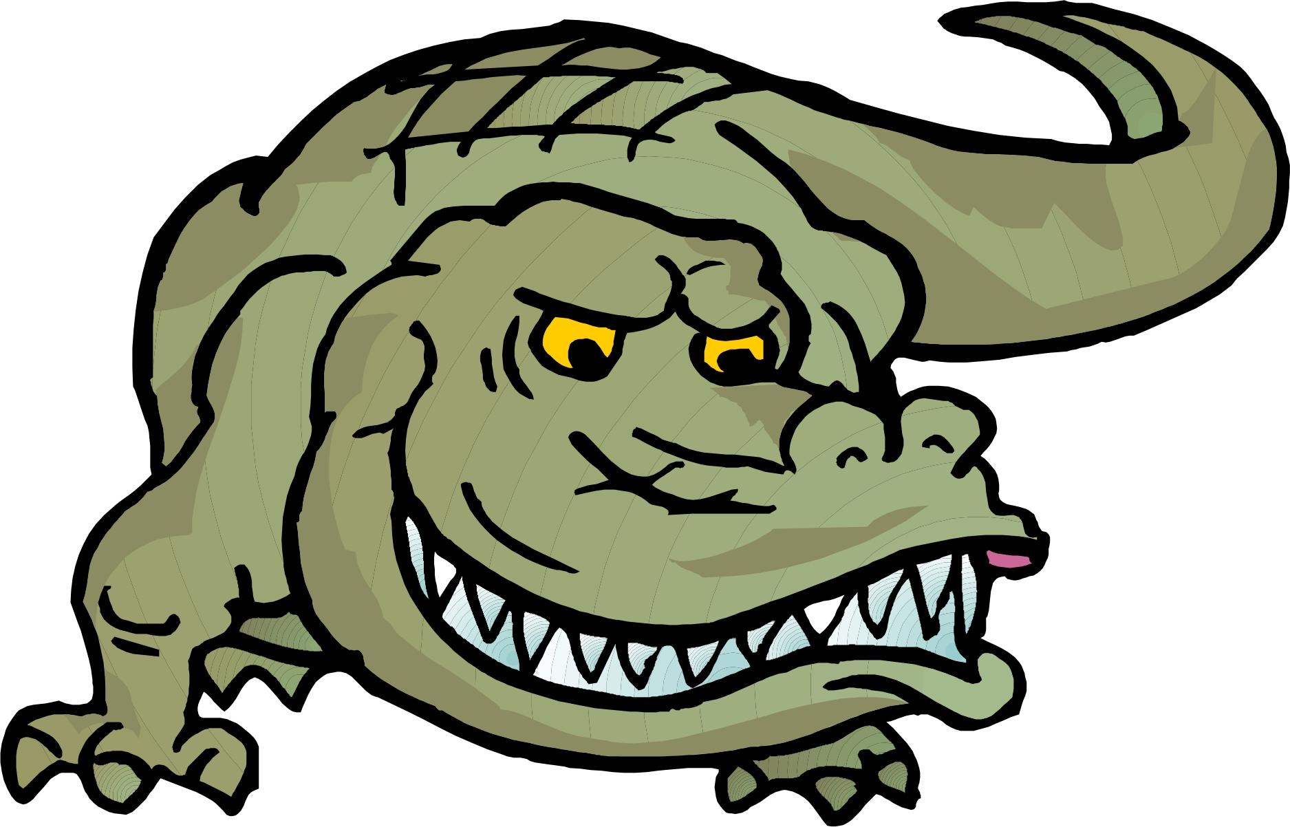 1875x1202 Crocodile Clipart Face