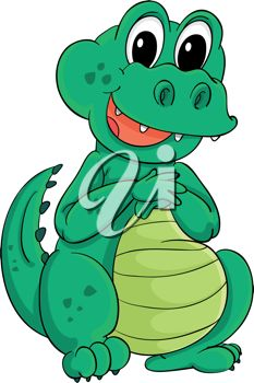 233x350 Picture Of A Cute Baby Alligator Sitting Down In A Vector Clip Art