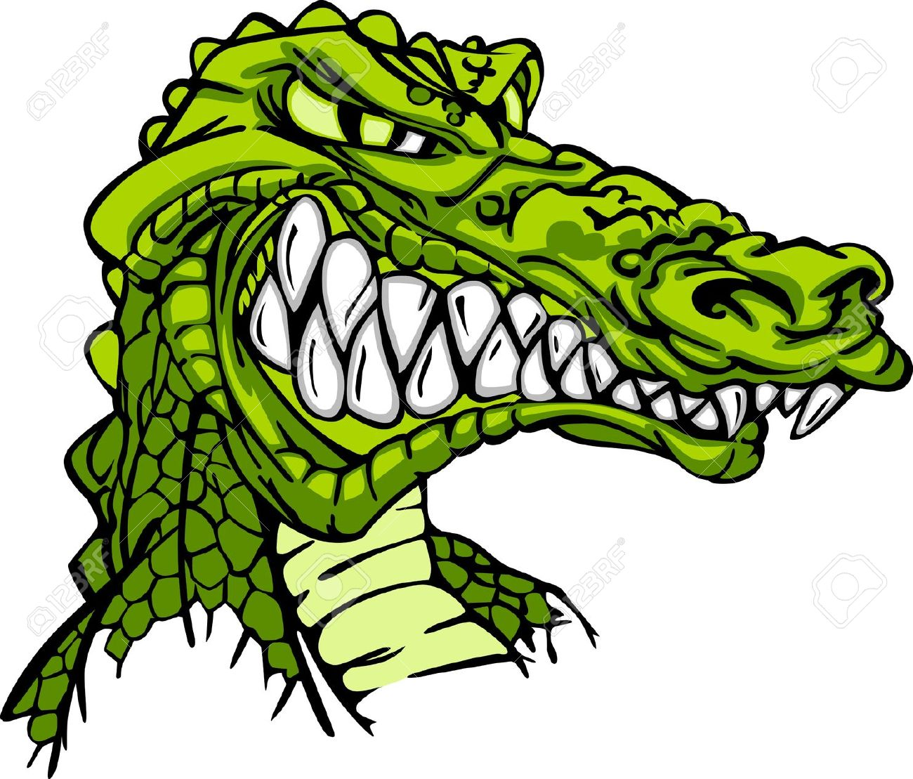 1300x1109 Alligator Clipart Mean