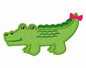 340x270 Girl Alligator Clipart