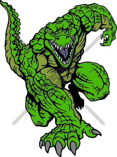 375x500 Alligator Mascot Aggressive Stance Clipart And Vectorart Sports