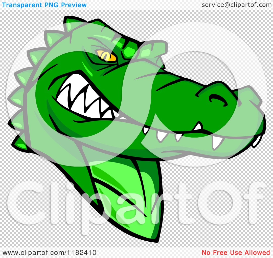 1080x1024 Clipart Of An Aggressive Green Alligator Mascot