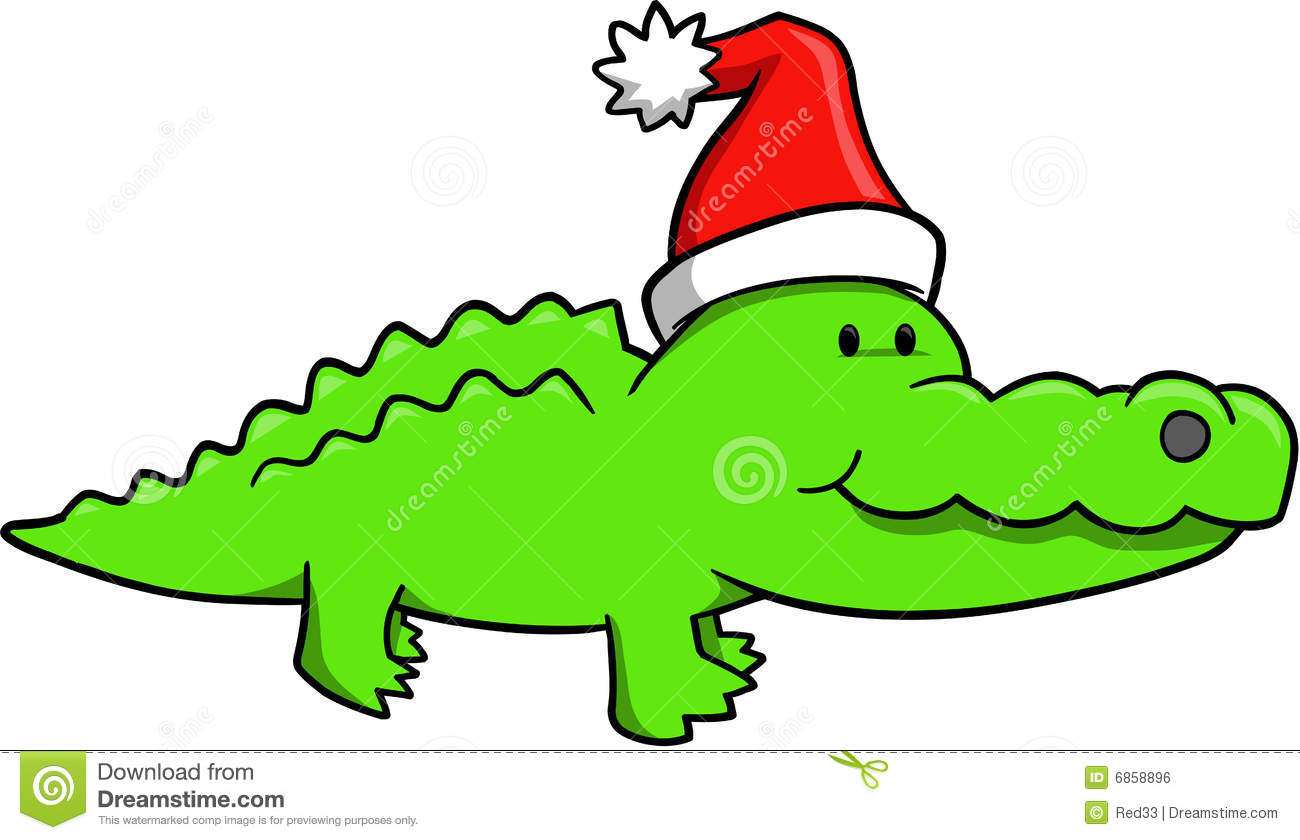 1300x840 Free Holiday Gator Clipart