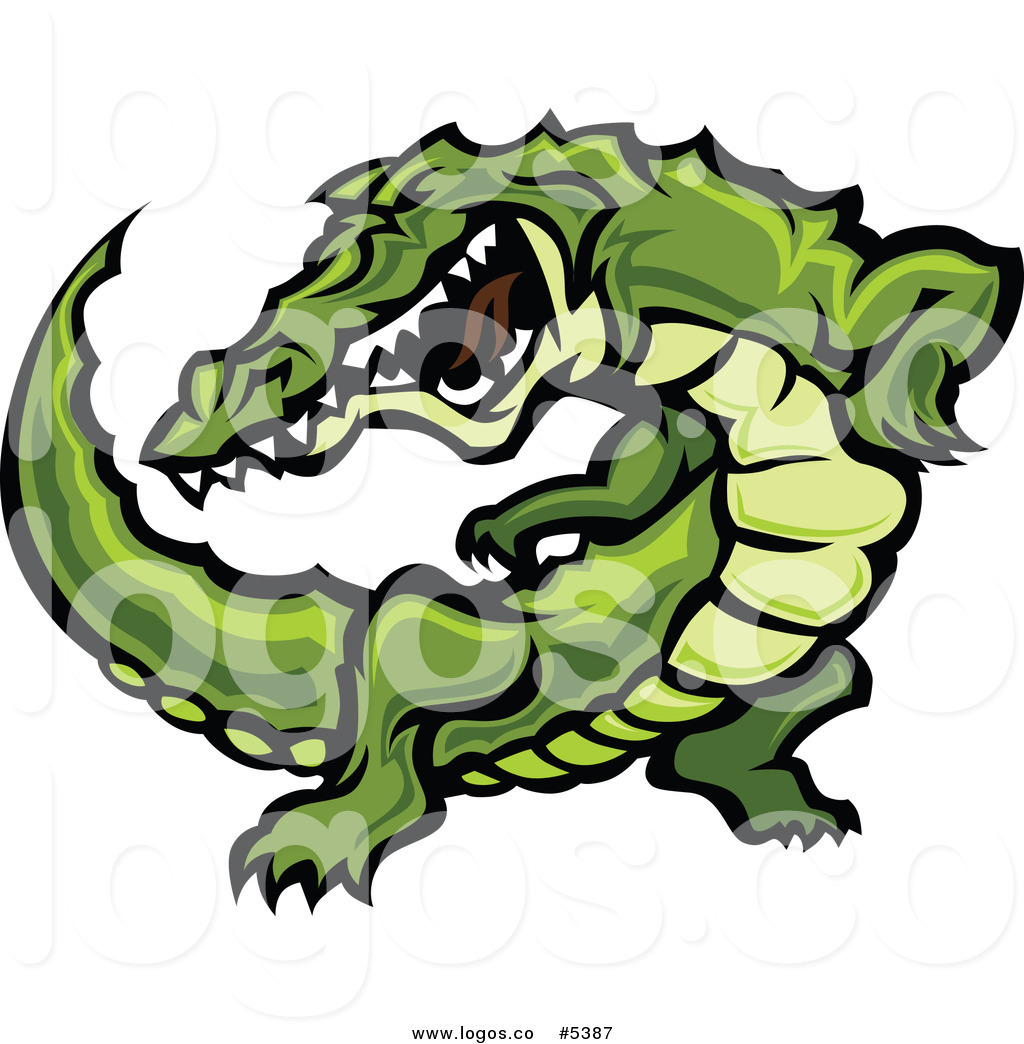 1024x1044 Royalty Free Vector Of A Logo Of An Angry Vicious Alligator By