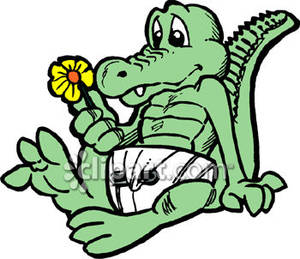 300x259 Aligator Cartoon Cartoon Baby Alligator Wearing A Diaper