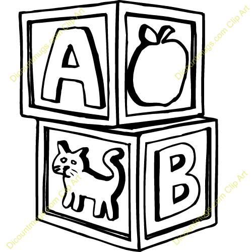 500x500 Graphics For Abc Baby Blocks Graphics