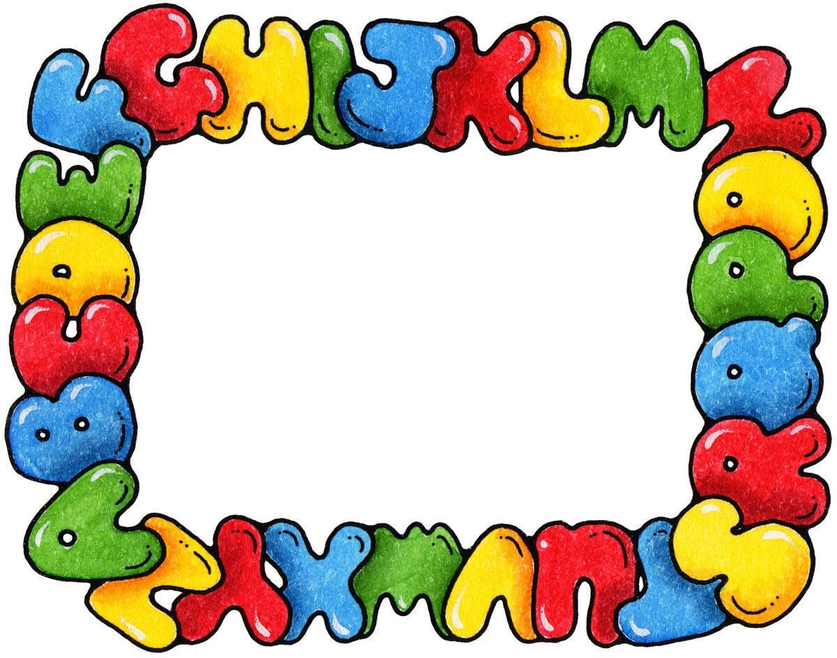 1200x944 Alphabet Border Clip Art
