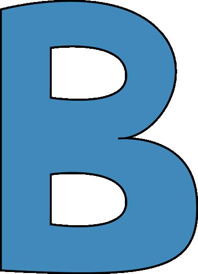 398x550 Blue Alphabet Letter B Clip Art