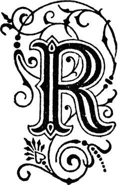 236x370 Fancy Letter R Charlotte Champlin Typography Fancy