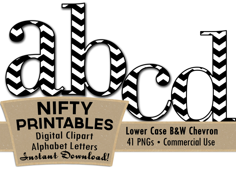 1500x1150 Lower Case Black And White Chevron Clip Art Alphabet Letter Set
