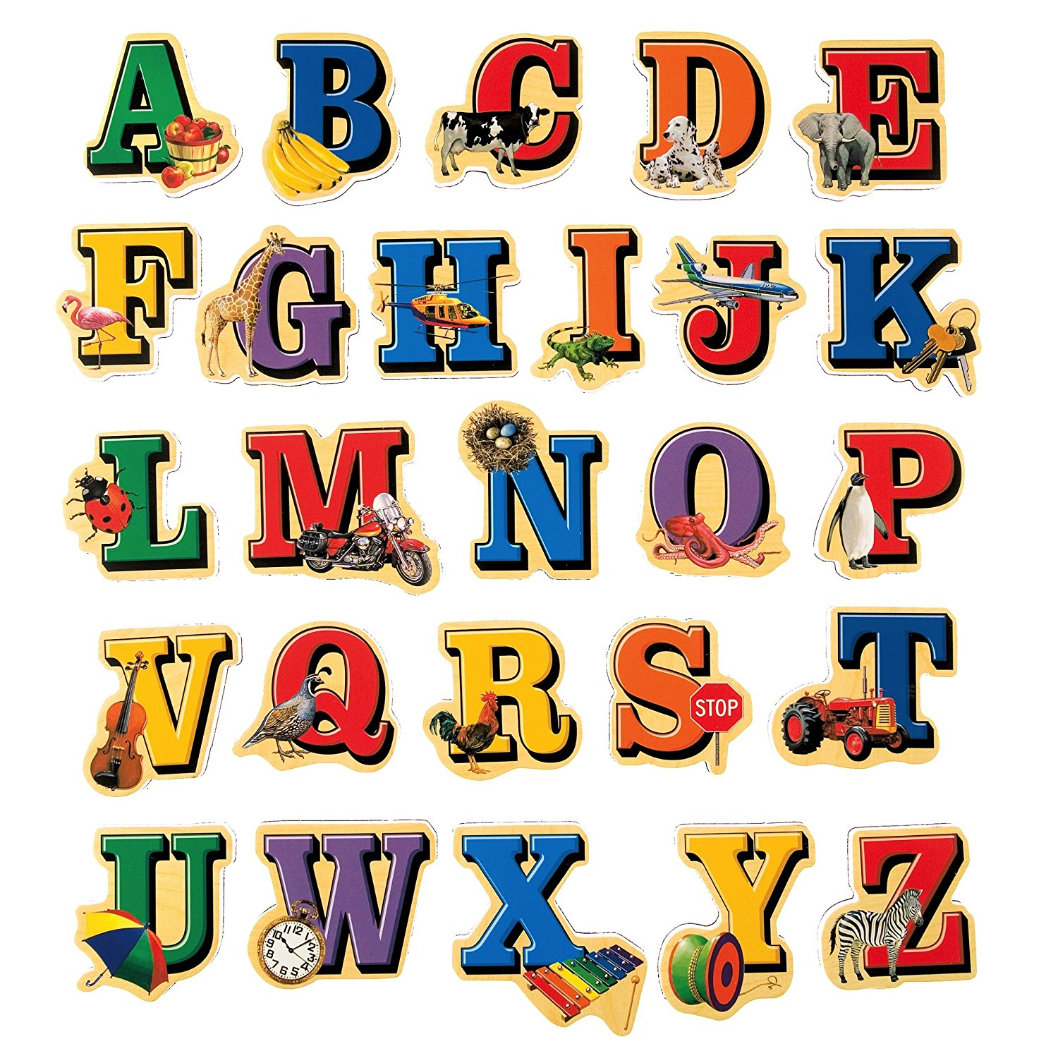 1500x1500 T.s. Shure Alphabet Letters Wooden Magnets 26 Piece
