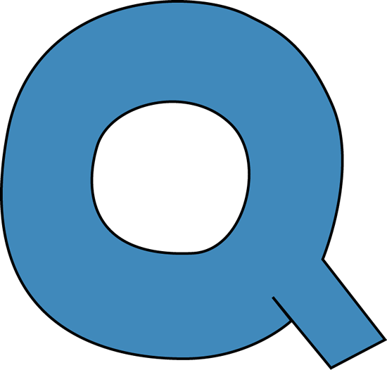 550x526 Blue Alphabet Letter Q Clip Art