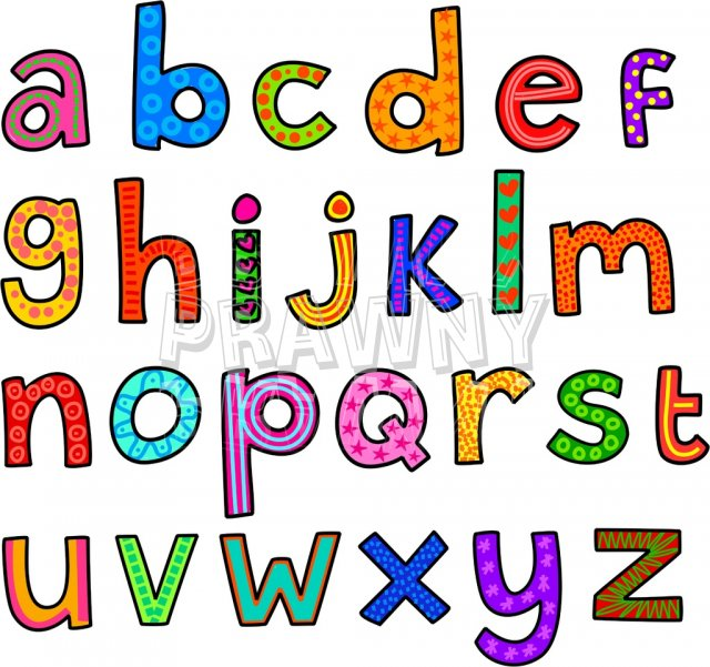 640x601 Small Alphabet Letter Clipart