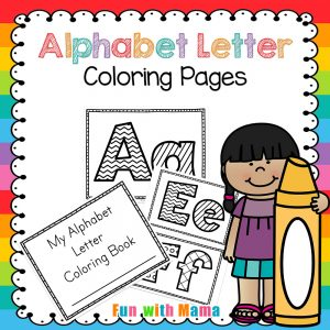 300x300 Alphabet Letter Coloring Pages Book