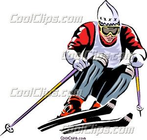 300x284 Alpine Skier Clip Art