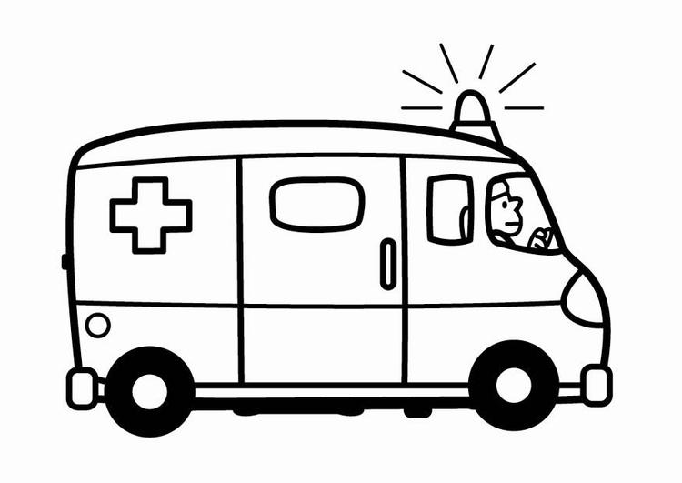 750x531 Coloring Page Ambulance Daycare Ambulance