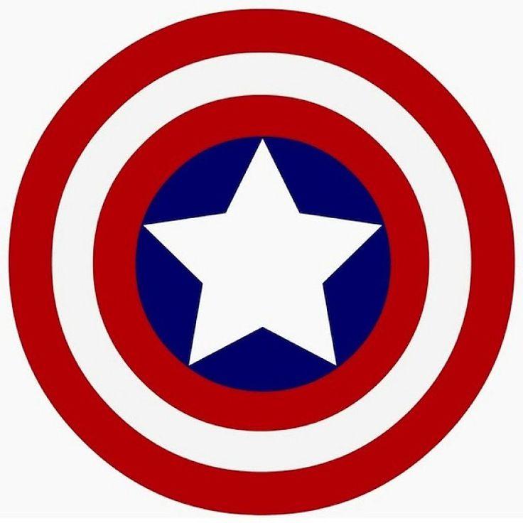 736x736 Captain America Logo Clip Art Clipart