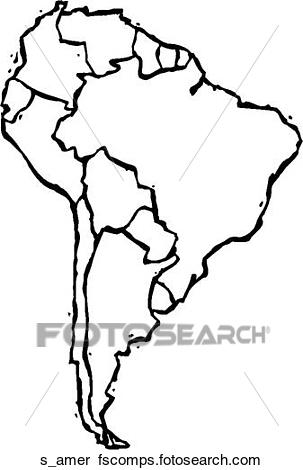 303x470 Clipart Of South America S Amer