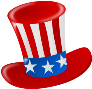 298x288 Uncle Sam American Hat Clip Art
