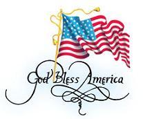 207x172 Free God Bless America American Clipart