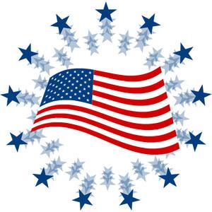 America Flag Clipart