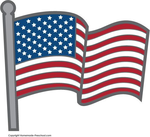 510x465 Free American Flags Clipart 3