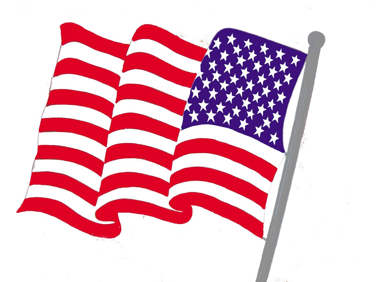 1600x1200 Top 10 American Flag Clipart Free Graphics United States Ima