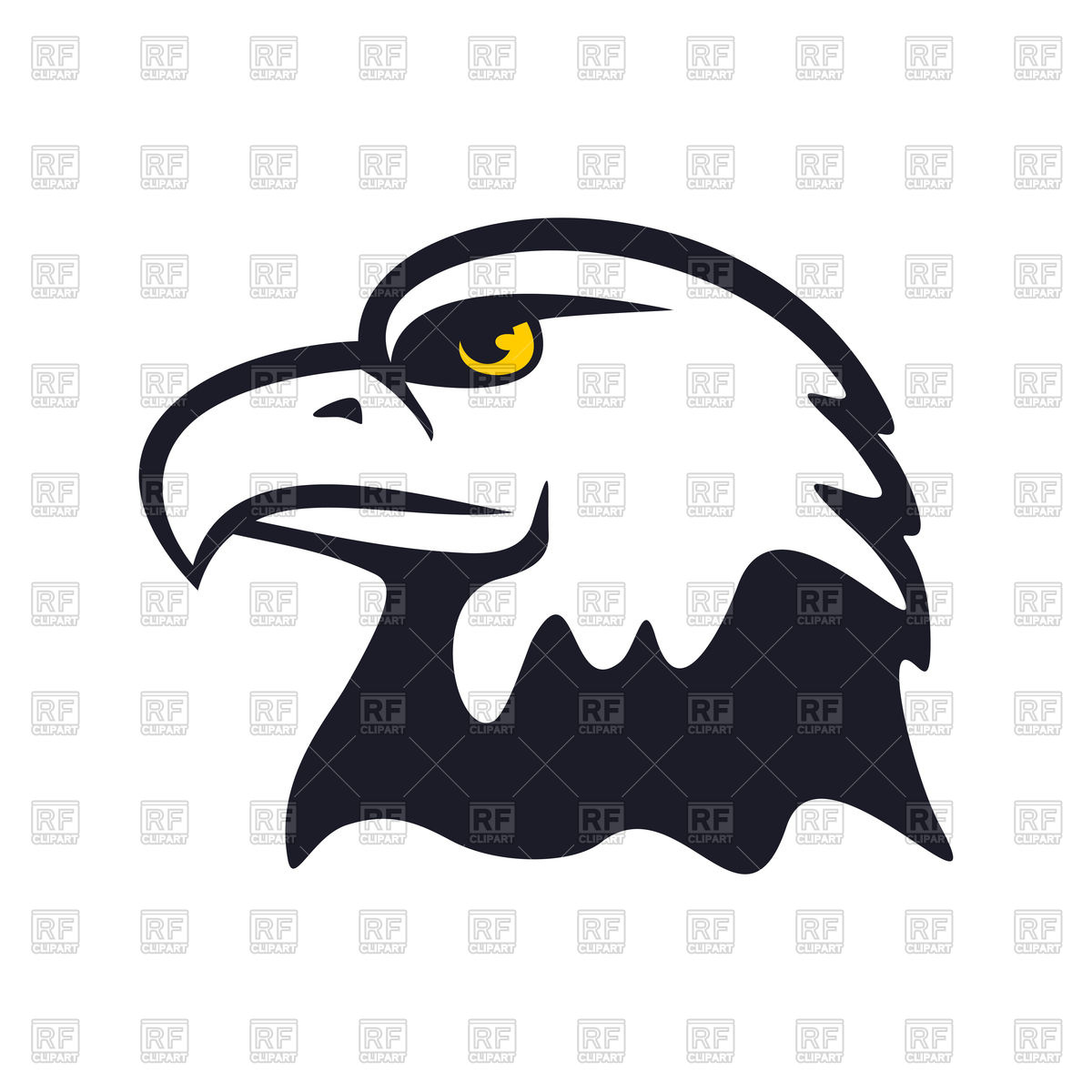 1200x1200 American Eagle Royalty Free Vector Clip Art Image