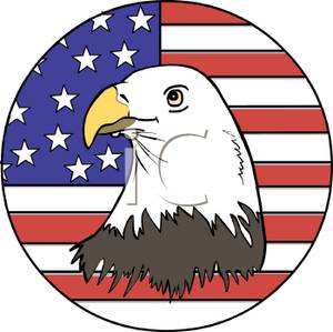 300x299 Art Image The American Flag And A Bald Eagle