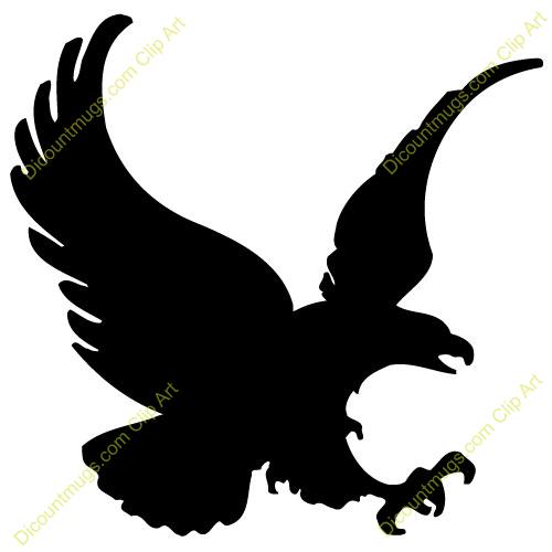 500x500 Black Eagle Clipart American Eagle